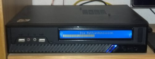 Display fitted in the Case